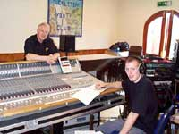 Our Recording Engineers from B & H Sound Services, Brian Hillson and his Assistant, Richard Sutcliffe